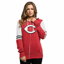 Majestic Cincinnati Reds Women's Red Big Time Attitude Full-Zip Hoodie