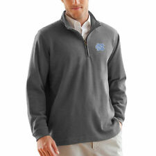North Carolina Tar Heels Gray Flat Back Rib 1/4 Zip Sweater