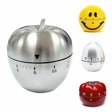 Kitchen Cooking Countdown 60 Mins Stainless Steel/Plastic Mechanical Timer Alarm