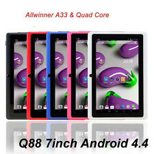 "7"" 8GB MID Tablet PC Q88 A33 QUAD CORE 7 Inch Android 4.4 AllWiner Multi Color"
