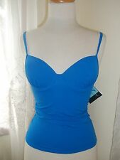 Newport News Marine Blue Padded, Shaped, Tankini Top Separates, NWT, Size 2, 6