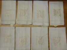 """NWT! Cypress Home Embroidered Linen Tea/Guest Towel 22"""" x 14"""" Choose Letter"""