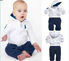 2PCS Kids baby boys hoodie outerwear +pants boys Clothing Outfits & Sets