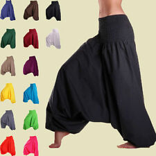 Men & Women Harem Pants Baggy Yoga Afagani Geni Indian Aladdin Dance Trousers