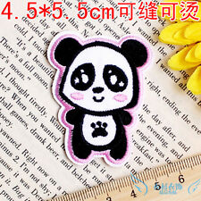 CUTE panda animal lovely Cloth badge Fabric embroidered patch iron/sew on diy