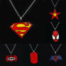 Fashion Movie Superman VS Batman Dog Tag Charm Pendant Necklace Men Jewelry Gift