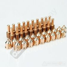 40PCs 120932 nozzle/tip+120926 electrode fit for plasma cutter cutting torch1250
