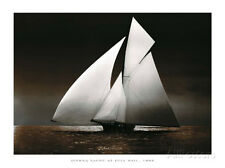 Iverna Yacht at Full Sail, c.1895 Art Print Wall Decor Art Home LivingRoom