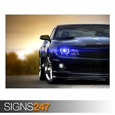CHEVROLET CAMARO MUSCLE CAR (9156) Poster Print Art A0 A1 A2 A3 - FREE DELIVERY!