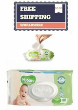 NEW Huggies Cucumber And Aloe Thick Baby Wipes 80/160 count Alcohol Free Clean