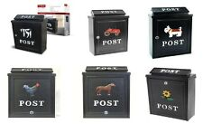 LOCKABLE OUTDOOR MAILBOX/POSTBOX LETTER/MAIL/POST BOX HOUSE WALL | FREE P&P