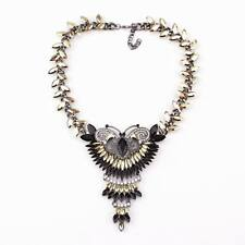 crystal butterfly necklace chunky statment pendant necklace for women wholesale