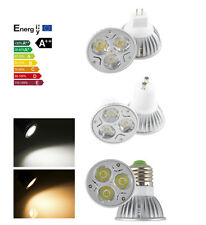 High Power Dimmable 9W 3x3W MR16/GU10/E27/E26 LED Spotlight Warm Cool White Lamp