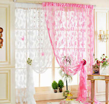 Voile Drape Butterfly Sheer 2016 Window Panel Thin Valances Tassel Curtains