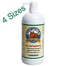 Grizzly Wild Salmon Oil from Alaska for Dogs ~ 4 Sizes ~ Omega-3 Fatty Acids