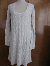 Free People gray cable design knit NWT dress Size Small Medium Large