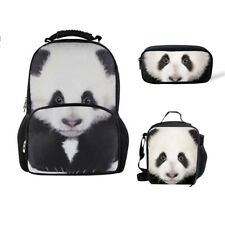 Cool Fashion Animal Backpack Lunch Bag Pencil Case School Set For Boys Girls