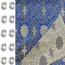 FREE CLEAR ACRYLIC BUTTONS CHINESE BROCADE FABRIC MATERIAL FOR CLOTHING CBS2010