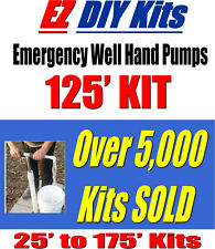 Deep Water Well Hand Pump For Deep Well Water, 125' Hand Operated Pump DIY KIT