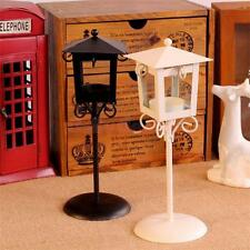 Black White Vintage Street Lamp Candle Holder Tealight Candlestick Stands