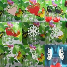 50x Wedding Party Wine Glass Laser Name Mark Place Cards Table Setting Decor