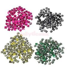 100x Punk Rock Pyramid Studs Spots Spikes DIY Bag Case Craft Leathercraft Gift
