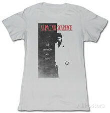 Juniors: Scarface - El Mundo Juniors (Slim) T-Shirt Grey New Womens Ladies Shirt