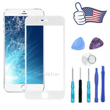 "Replacement Front Screen Glass Lens for iPhone 6 Plus 5.5"" Repair Tool Kit White"