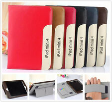 Ultra Thin Leather Protective Folio w/Hand Holder Stand Case For Apple Tablet PC