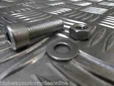 TRIKE 8MM M8  STAINLESS STEEL SOCKET CAP ALLEN BOLTS WITH NUT & WASHER