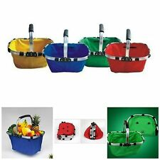 Folding Portable Shopping Picnic Vegetable Market Basket As Seen On TV