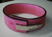 Powerlifting Lever Buckle 10mm Belt Strongman Crossfit Gym Weight Lifting Pink