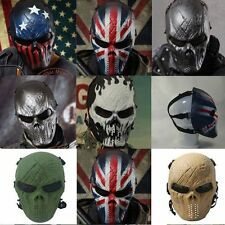 Tactical Full Face Protection Skull Mask Outdoor Safety Gear Airsoft Paintball