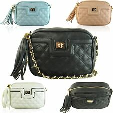 Faux Leather Cross Body Girls Ladies Designer Womens Shoulder Bag Saddle Satchel