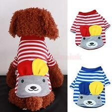 Pet Puppy Dog Doggie Striped Warm Clothes Apparel Costume Cute Bear Top T Shirt