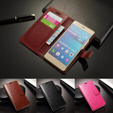 Luxury Flip Leather Card Slot Stand Wallet Case Cover For Huawei Ascend & Honor