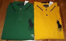 NWT Mens Polo Ralph Lauren Custom Fit Polo Shirt BIG PONY LOGO Long Sleeve *Q6