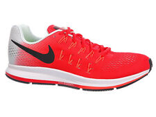 NEW MENS NIKE AIR ZOOM PEGASUS 33 RUNNING SHOES TRAINERS ACTION RED / BLACK / PU