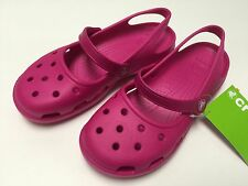 Crocs Shayna Candy Pink Women Mary Jane Flat All Size 5 6 7 8 9 10 11 12