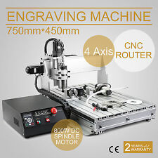 CNC ROUTER ENGRAVER 6040 4 AXIS ENGRAVING MACHINE CUTTER WOODWORKING BALLSCREW