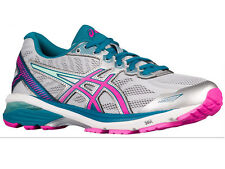 NEW WOMENS ASICS GT-1000 V5 GEL RUNNING SHOES TRAINERS MINT / ORCHID / CO WIDE