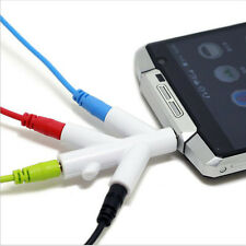3.5mm Audio Splitter Branches Earphone Headphone Cable Male to 4 Female Adapter