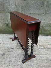 Small ornate rosewood antique gate leg table