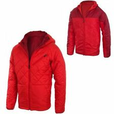Mens Nike Padded Jacket Thermore Reversible Quilted Hooded Red Size L XL NEW