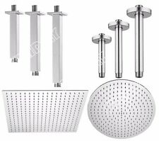 SOLID BRASS CEILING MOUNTED ROUND OR SQUARE SHOWER HEAD ARM CHROME FINISH
