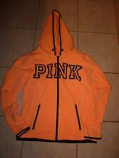 "VICTORIAS SECRET PINK ""PINK"" FULL ZIP ZIP POCKETS HOODIE NWT"