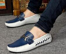 Fashion Mens Slip On Loafers genuine leather comfort  Moccasins Driving  shoes