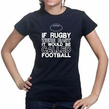 Rugby v Football World Cup Union League Ladies T shirt Jersey Tee T-shirt Top