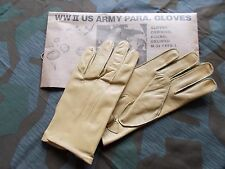 WW2 US Army M-39 Paratrooper Leather Gloves - High Quality WW2 US Army - Repro