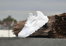 NIKE AIR HUARACHE TRIPLE WHITE 318429 111 NEW UK 6, EU 40, US MEN 7, US WMNS 8.5